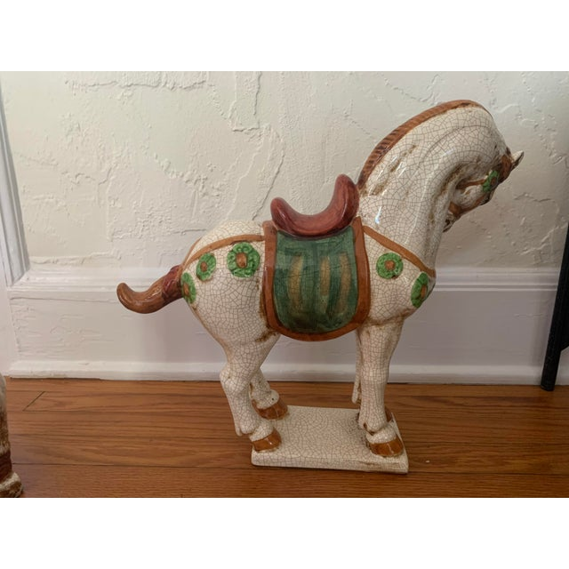 Early 20th Century Early 20th Century Sancai-Style Ceramic Camel and Horse - Set of 2 For Sale - Image 5 of 10