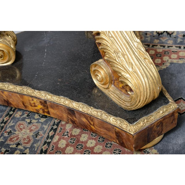 Wood Pair of Gilt and Faux Tortise Shell Planters For Sale - Image 7 of 8