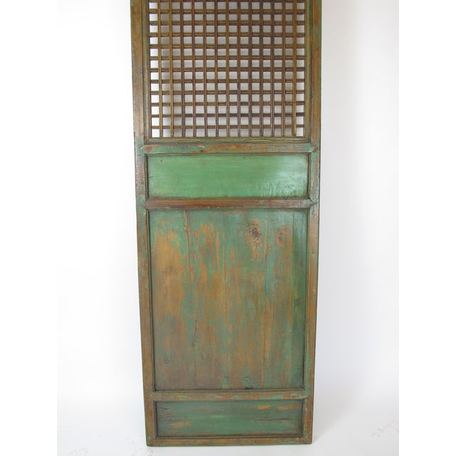 Green 1900s Antique Chinese Lattice Panels- Set of 6 For Sale - Image 8 of 9