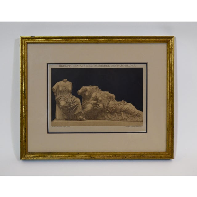 Figurative Small Framed Print of Classical Figures From the Parthenon For Sale - Image 3 of 3