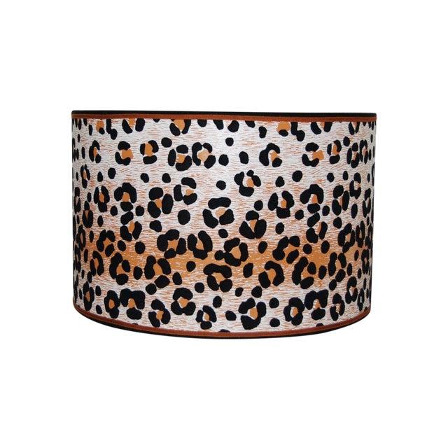Vintage Cheetah Wallpaper Lampshade - Image 1 of 4