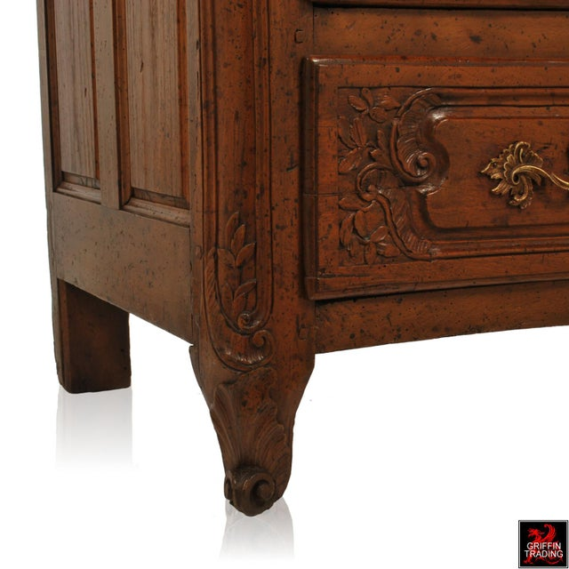 Large 18th Century Louis XV Period Walnut Commode or Chest of Drawers For Sale - Image 11 of 13