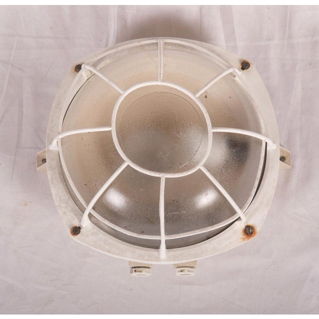 Tan Industrial wall or ceiling lamp made of plastic, 1970s For Sale - Image 8 of 8