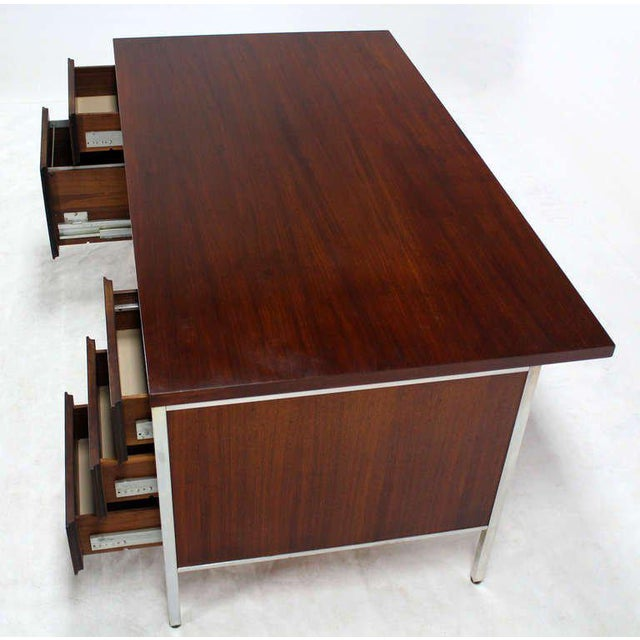 Incredible Walnut And Aluminum Mid Century Modern Large
