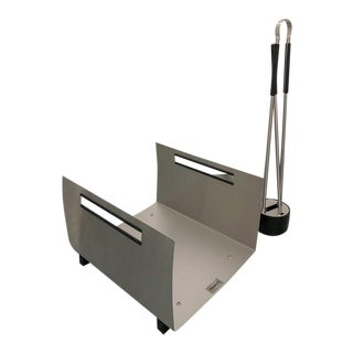 Blomus Stainless Steel Fireplace Set For Sale