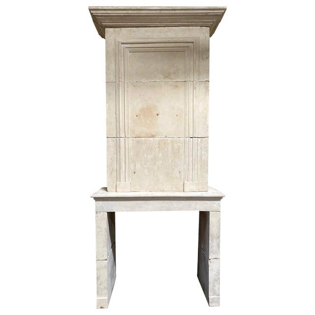 19th Century Limestone Mantel with Trumeau For Sale - Image 9 of 9