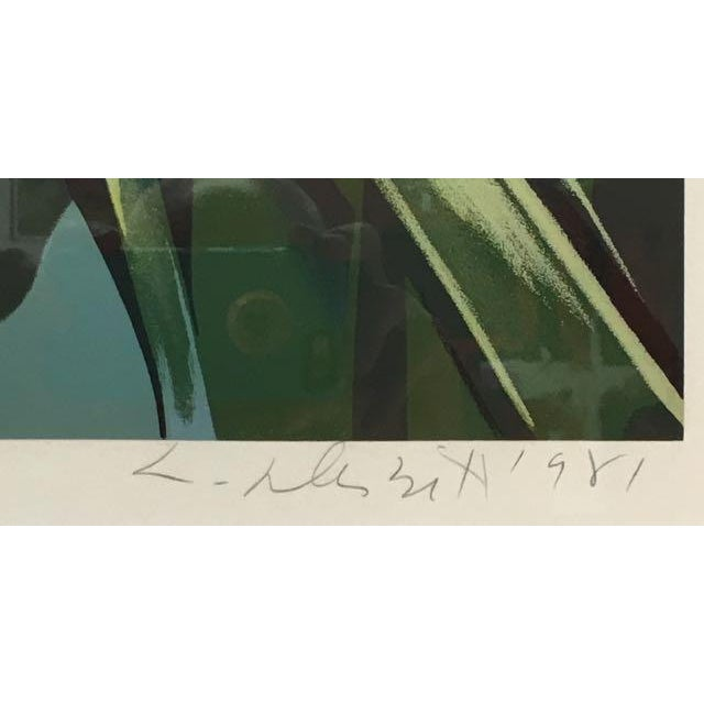 "Modern 1981 Serigraph ""Cattleya Orchids"" by Lowell Nesbitt For Sale - Image 3 of 7"