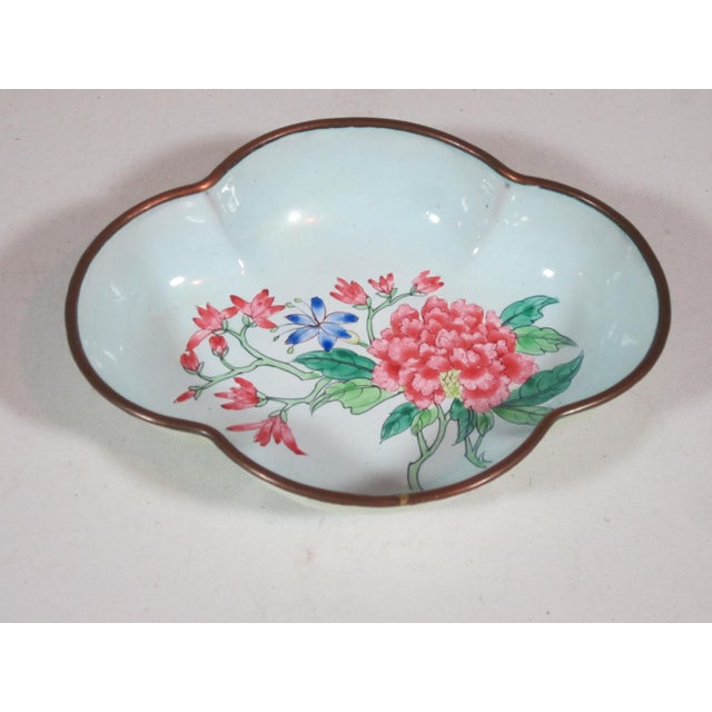 Floral Chinese Enamel Bowls - Set of 4 - Image 7 of 9