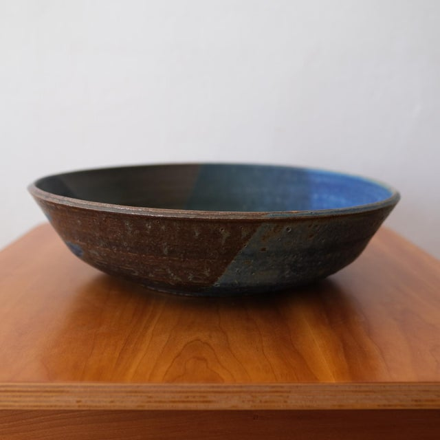Mid-Century Modern Hal Fromhold California Studio Pottery Large Bowl, 1950s For Sale - Image 3 of 8