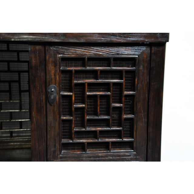 Chinese Lattice Display Cabinet For Sale - Image 10 of 13