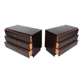 Pair of Mid-Century Modern Mahogany Bachelor's Chests For Sale