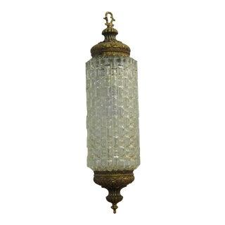 Vintage Mid-Century Baguette-Faceted Pendant Lamp For Sale