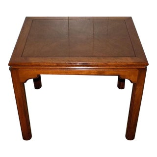 Campaign Ethan Allen Solid Cherry Canova Collection End Table For Sale