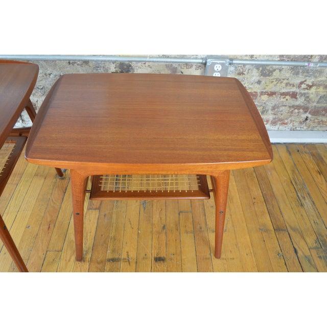 Danish Modern Arne Hovmand Olsen for Mogens Kold Danish Teak End Tables For Sale - Image 3 of 10