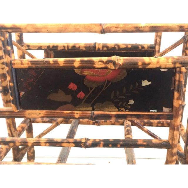 Bamboo 19th Century Boho Chic Bamboo Magazine Rack For Sale - Image 7 of 9