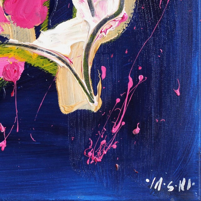 """2010s """"Magenta & Yellow"""" Original Painting by Ash Almonte For Sale - Image 5 of 8"""