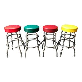 Set of 4 Swivel Barstools