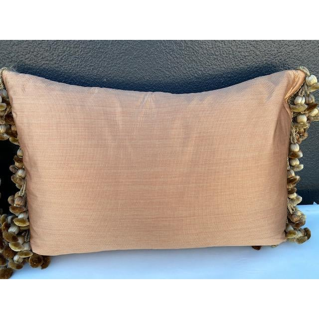 Traditional Chenille and Metal Thread Pillows - a Pair For Sale - Image 4 of 9