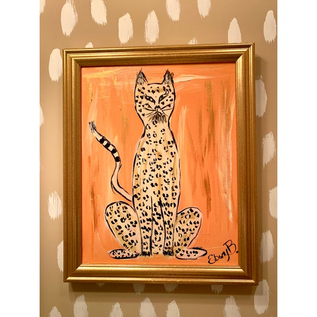 """Abstract """"Cheeky"""" Leopard Painting For Sale - Image 3 of 4"""