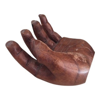 Vintage Hapa Wood Hawaiian Carved Hand For Sale