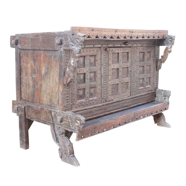 Antique Teak Gujarat Cabinet - Image 5 of 9