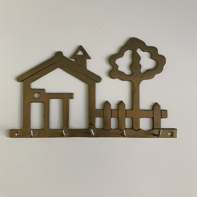 Late 20th Century Vintage Brass House Key Hook For Sale - Image 5 of 5