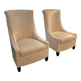 Modern Kravet Accent Chairs- a Pair For Sale