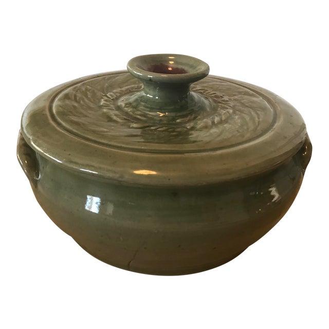 Studio Pottery Lidded Casserole Dish For Sale