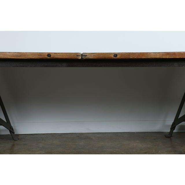 Vintage Industrial Table - Image 6 of 11