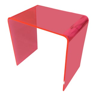 1990s Vintage Pink Waterfall Side Table