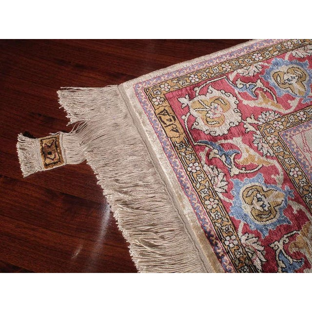 Silk Hereke Rug For Sale - Image 4 of 10