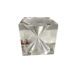 1960s Tapio Wirkkala Lucite Hourglass Paperweight For Sale
