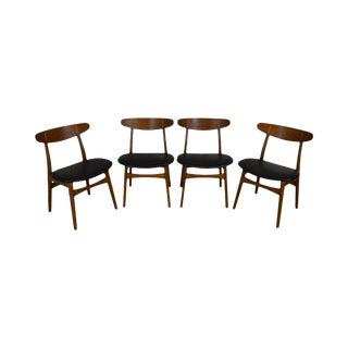 Hans Wegner for Carl Hansen & Son Set 4 Danish Modern Dining Chairs For Sale