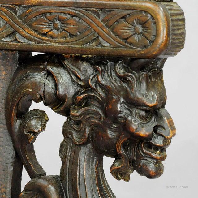 Italian A Great Renaissance Style Italian Sgabello Chair Ca. 1860 For Sale - Image 3 of 13