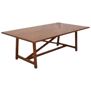 Petersen Antiques Dining Table in Walnut With Extensions, Made to Order For Sale
