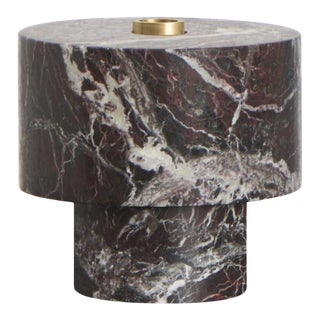 Contemporary Handcrafted Candle Holder in Italian Marble by Karen Chekerdjian For Sale