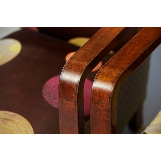 Pair of 1920s Art Deco Lounge Chairs from Buenos Aires For Sale - Image 9 of 11