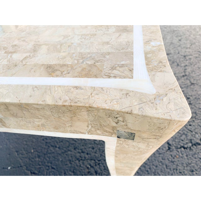 Late 20th Century Maitland Smith Gaming Table in Tessellated Marble. America, Circa 1970 For Sale - Image 5 of 11