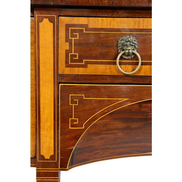 Late 18th Century George III Mahogany and Satinwood Sideboard For Sale - Image 5 of 12