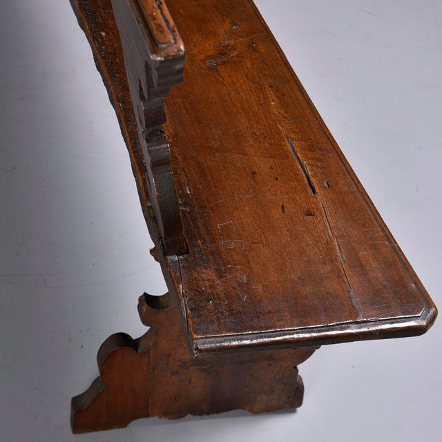 19th Century Italian Primitive Hand Carved Bench For Sale - Image 10 of 13