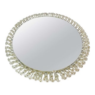 Midcentury Round Illuminated Mirror by Emil Stejnar for Rupert Nikoll, 1960s For Sale