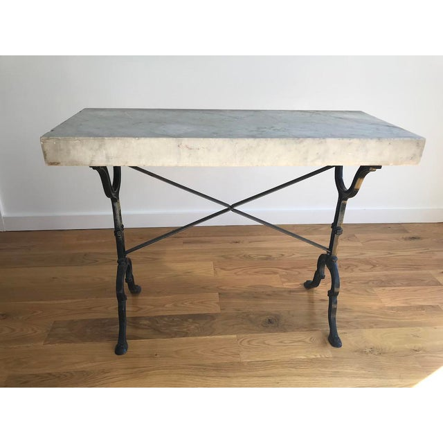 20th Century French Marble & Iron Bistro Table For Sale - Image 10 of 10