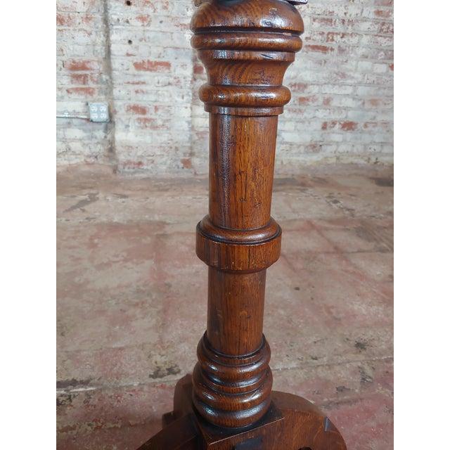 Gothic Revival -Vintage Carved Oak Reading Church Pedestal For Sale In Los Angeles - Image 6 of 11