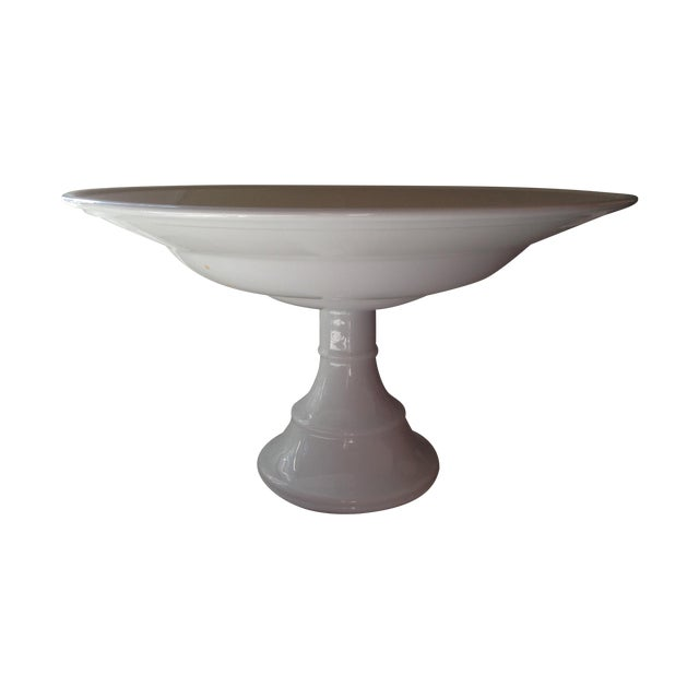 Williams Sonoma White Pedestal Bowl - Image 1 of 4