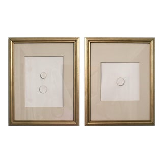 Mid Century Grand Tour Italian Framed Intaglios - a Pair For Sale
