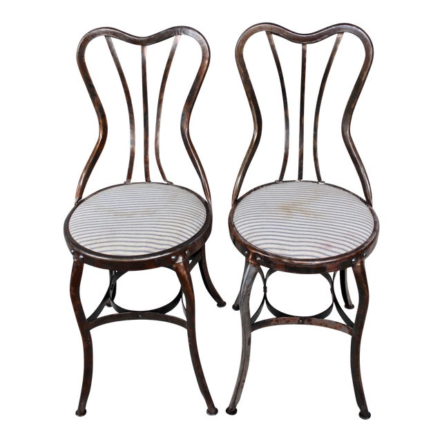 Vintage Toledo Industrial Chairs - A Pair For Sale