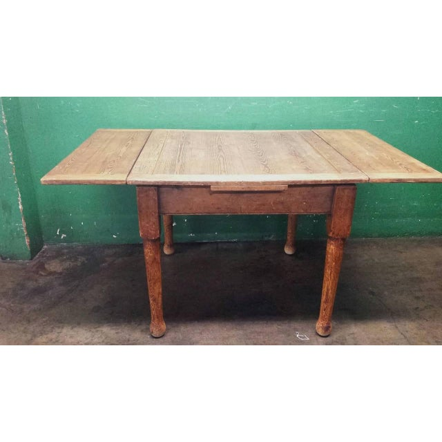 Farm House Dining Table With Leaves - Image 3 of 4