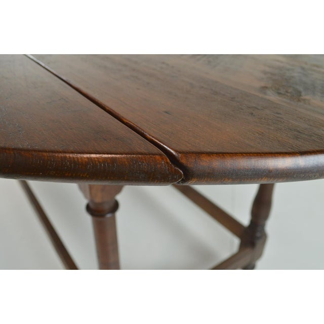 Antique Oval Drop Leaf Dining Table - Image 6 of 9