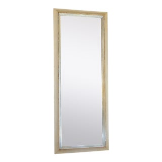 Vintage Modern Combed Finish Silver-White Mirror For Sale
