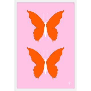 """Medium """"Butterfly Orange and Pale Pink"""" Print by Wendy Concannon, 21"""" X 31"""" For Sale"""